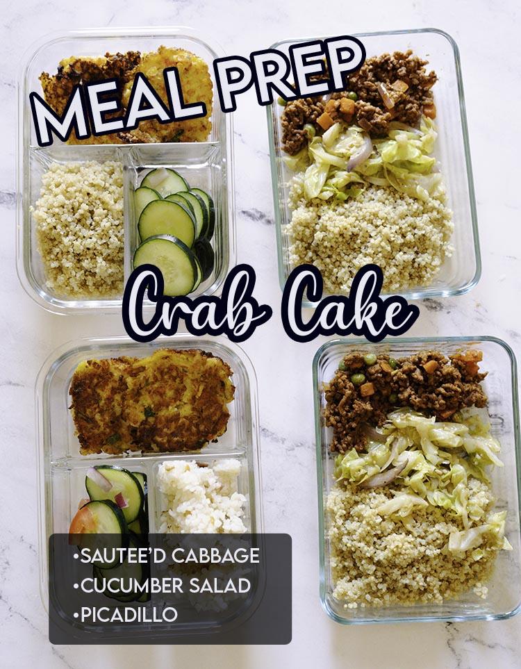 Crab Cake Meal Prep
