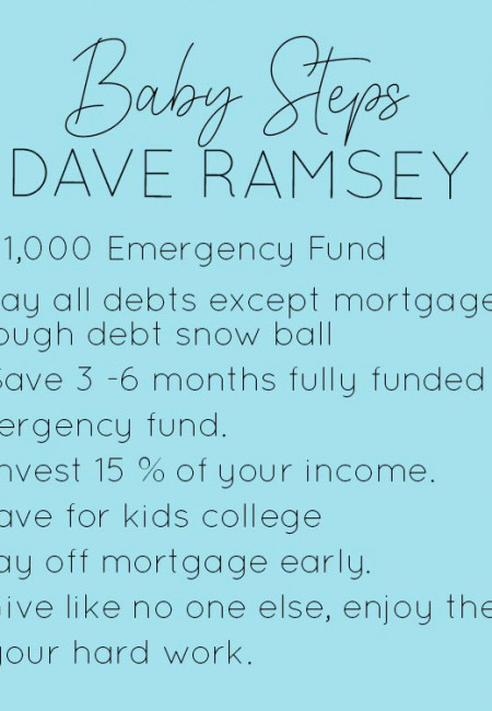 Dave Ramsey Baby Steps Principles to follow