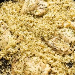 Easy One Pot Meal Chicken Thigh and Rice Casserole