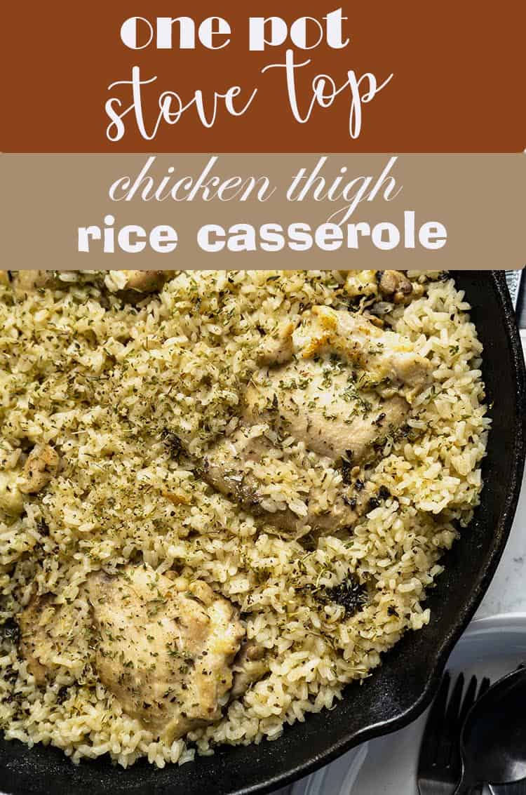 Easy One Pot Meal Chicken and Rice Casserole Dinner