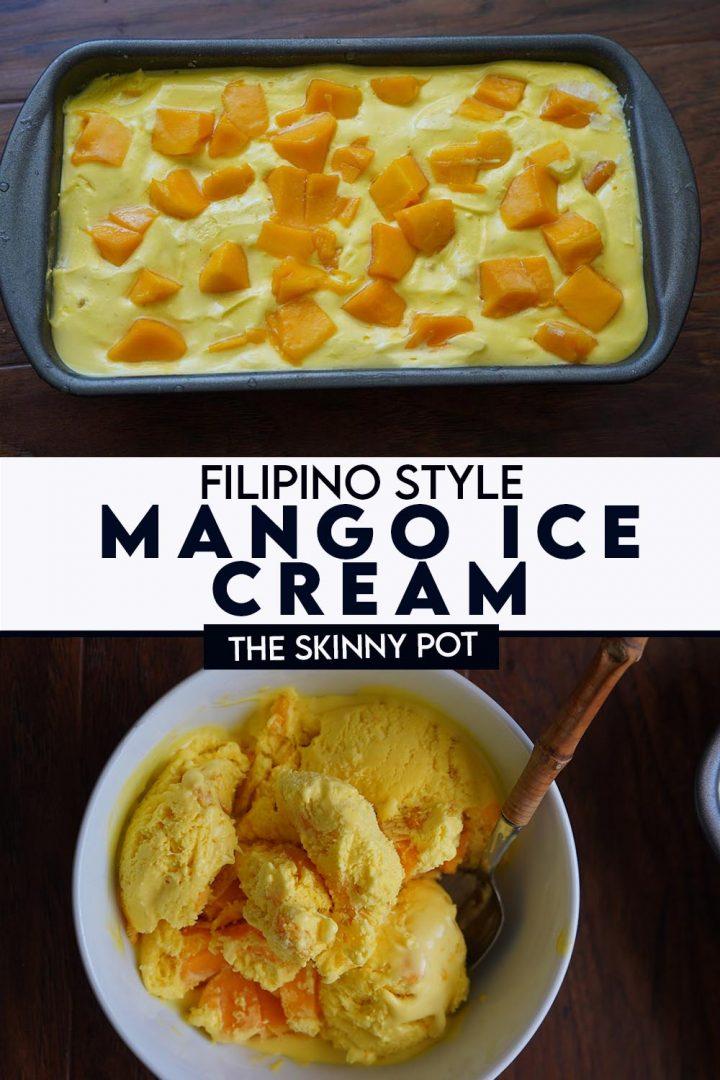 MANGO ICE CREAM FILIPINO STYLE