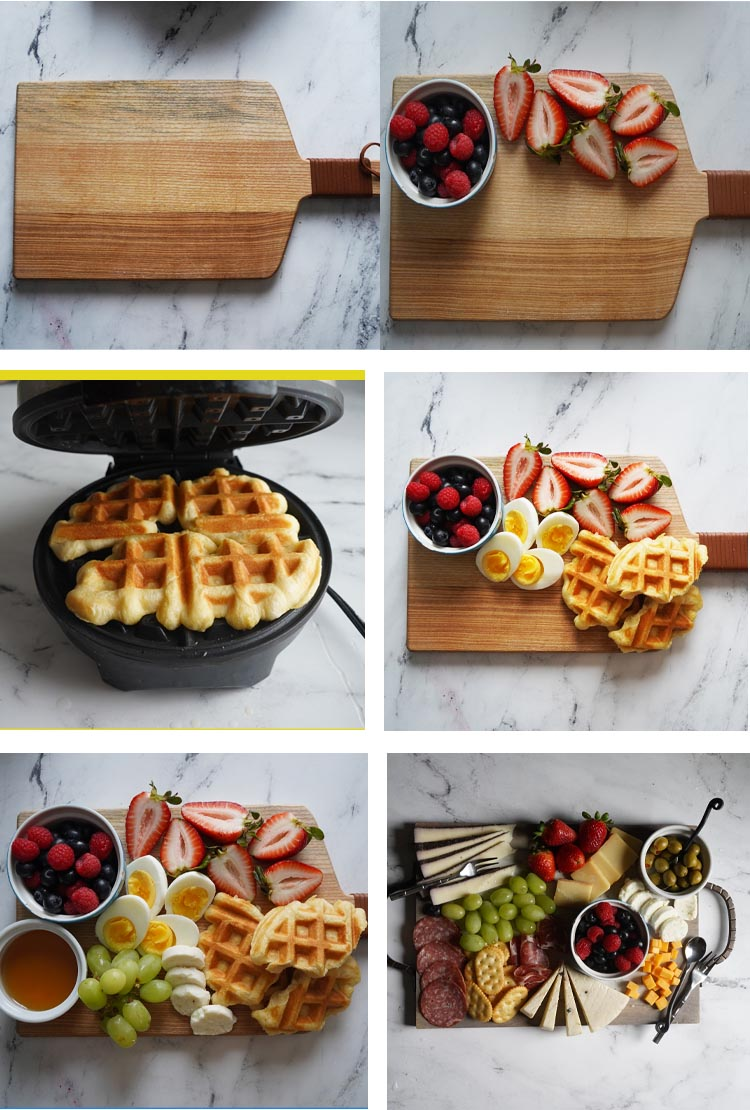 Easy to Assemble Mother's Day Breakfast charcuterie board