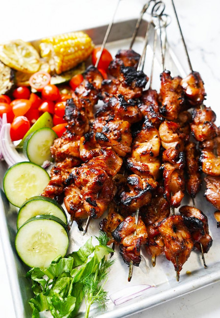 Grilled Chicken Thigh with Asian Sauce Marinade