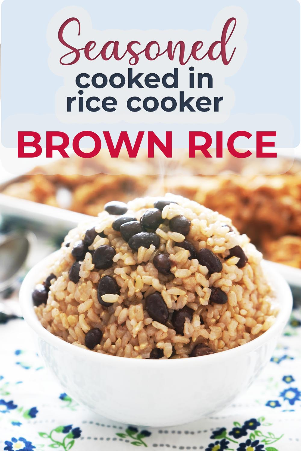 Seasoned Black Beans and Rice Cook in Rice Cooker