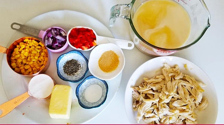 Creamy Chicken Corn Soup Ingredients
