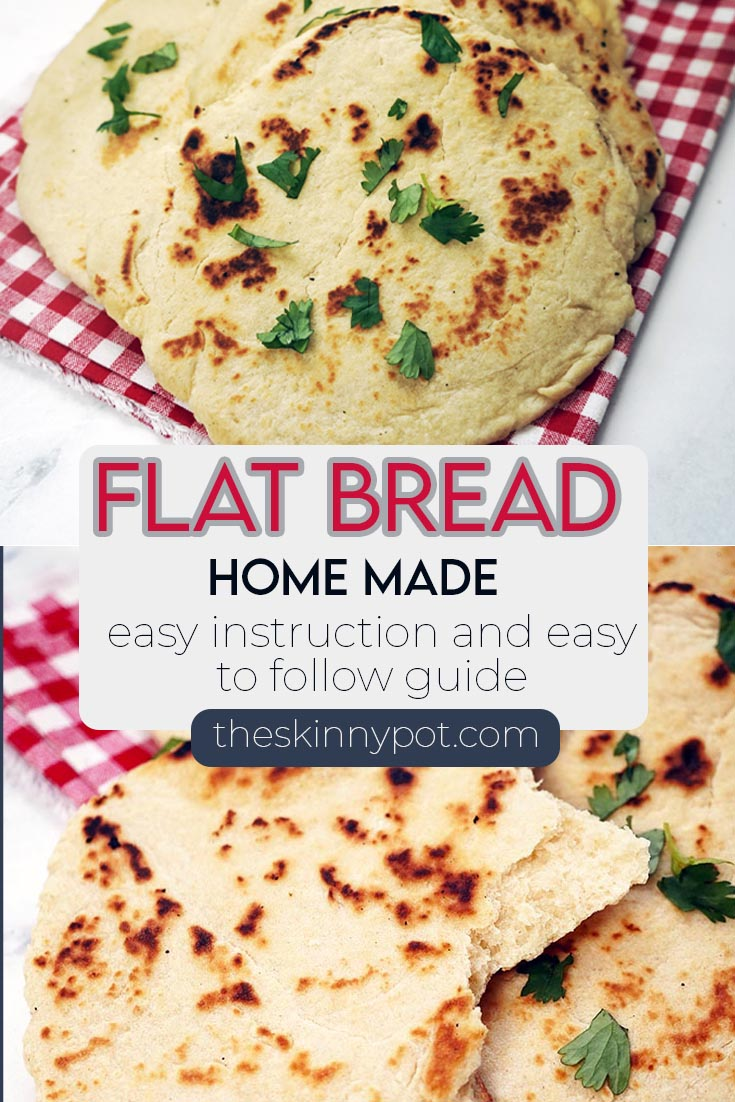 Flat Bread Recipe. Very simple to make, no yeast needed and so delicious. You don't have to buy expensive flat bread. Just make it at home.
