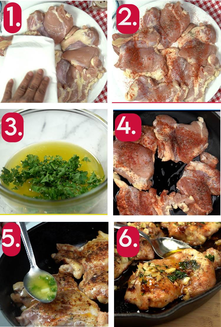 How to Make Garlic Butter Chicken Thigh