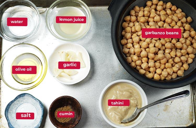 Ingredients for Hummus Recipe