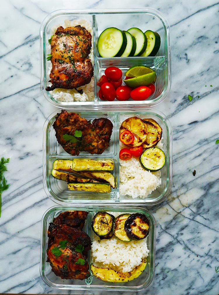 Lime Cilantro Marinade Grilled Chicken Thigh Meal Prep