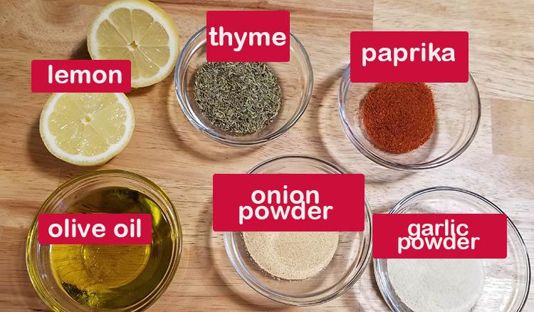 Oven Bake Chicken Rub Ingredients