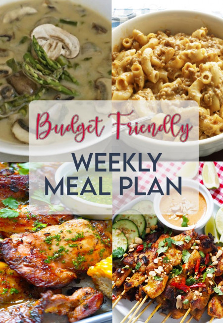 BUDGET FRIENDLY WEEKLY MEAL PLAN