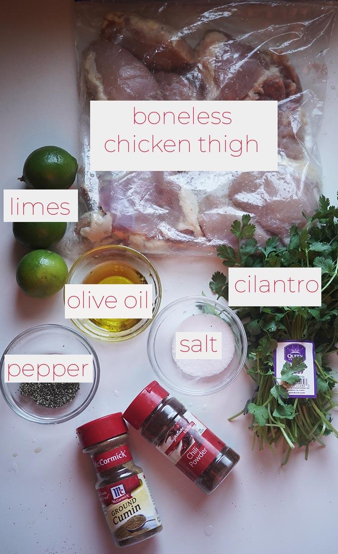 grilled boneless chicken thigh ingredients