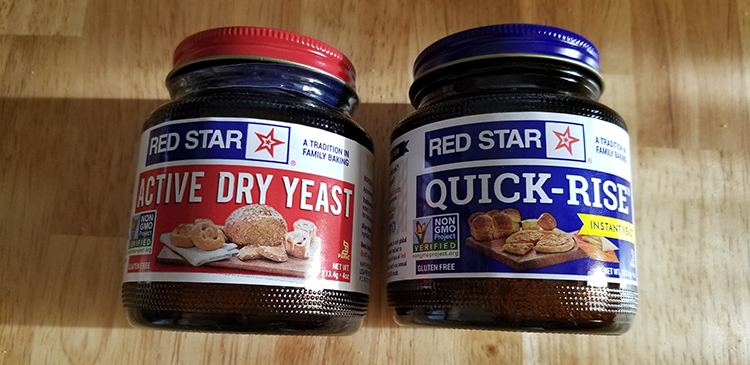 2 types of Yeast Active Dry and Instant Yeast