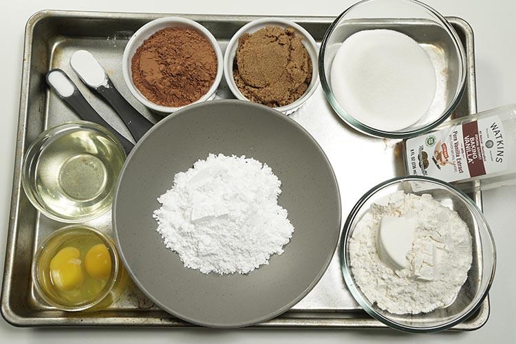 Chocolate Crinkles Cookies Ingredients