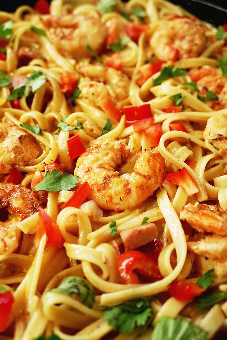 How To Make Cajun Pasta Shrimp Recipe with Sausage