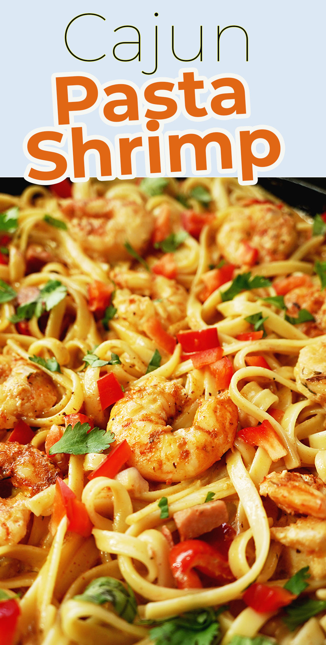 CAJUN PASTA SHRIMP and sausage. Tastes as good as any high quality restaurant, but more cost effective. This dish is very easy to make.
