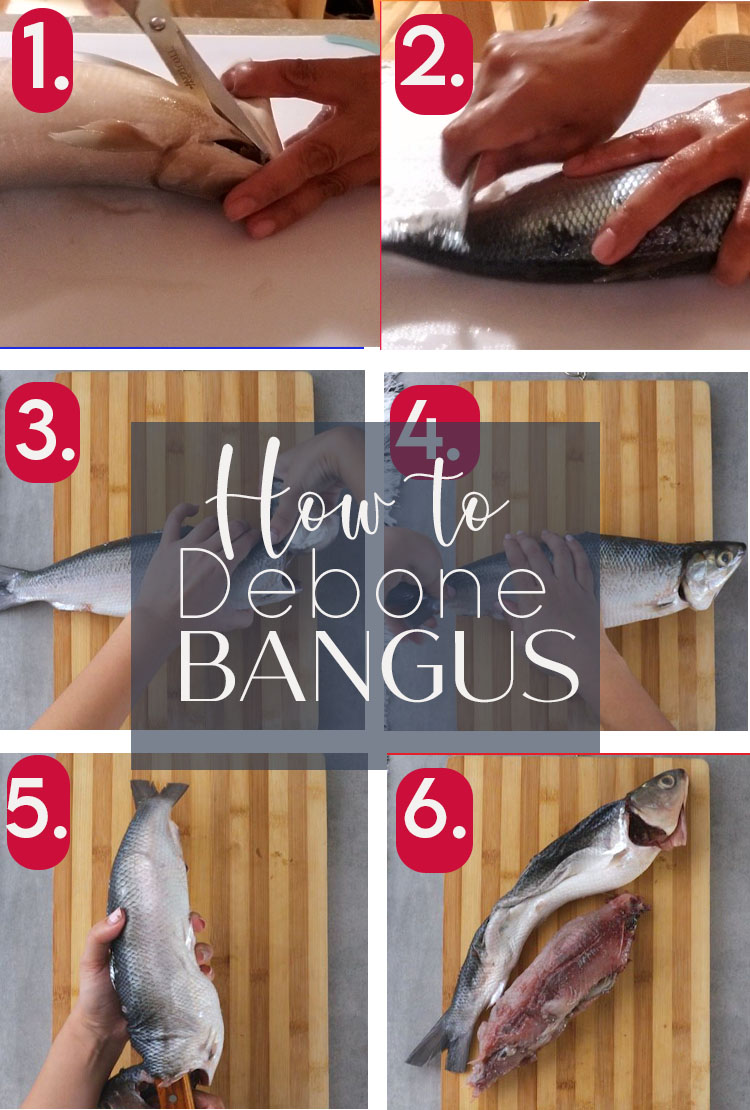 How to Debone Milkfish for Rellenong Bangus. Detailed step-by-step instructions with pictures and video to make deboning milkfish easier.
