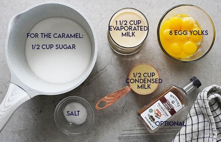 Flan Layer Ingredients