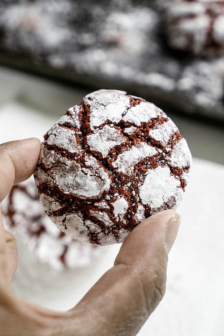 Red Velvet Cookie Crinkles Recipe that is Fool Proof and Tested