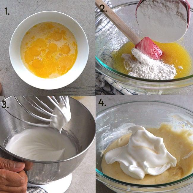 Steps to Make custard cake