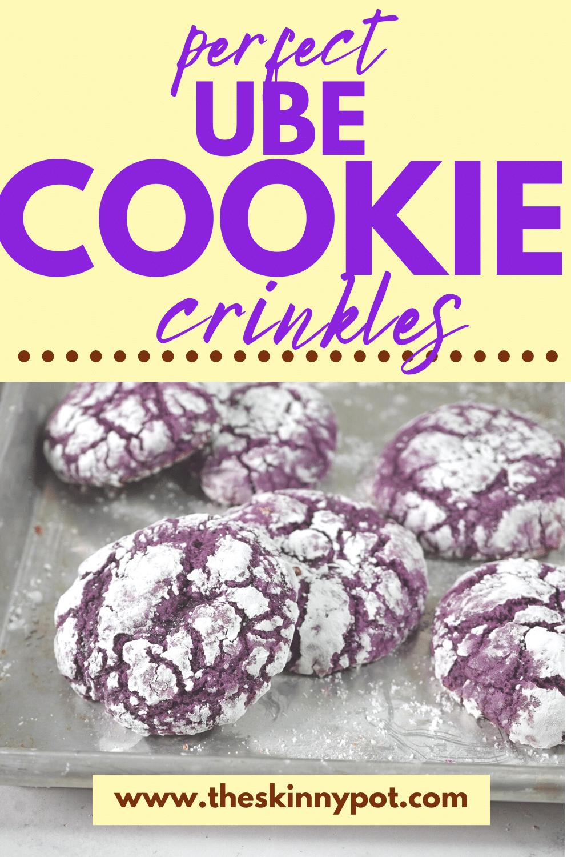 Ube Cookie Crinkles without Ube Halaya added