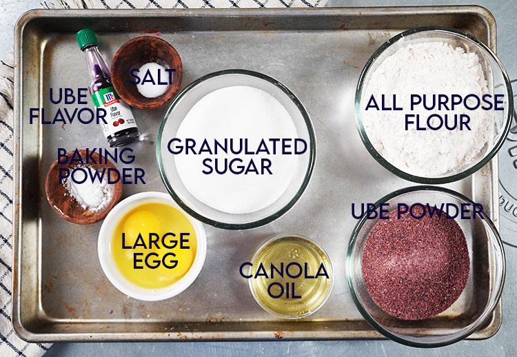 Ube Cookie Ingredients