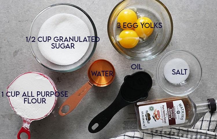 Cake Layer Ingredients