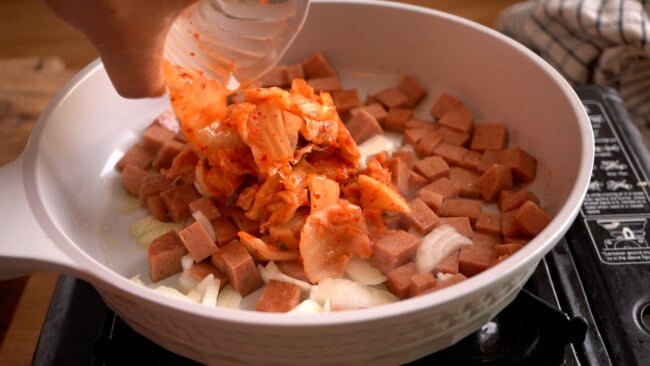 Add the Kimchi