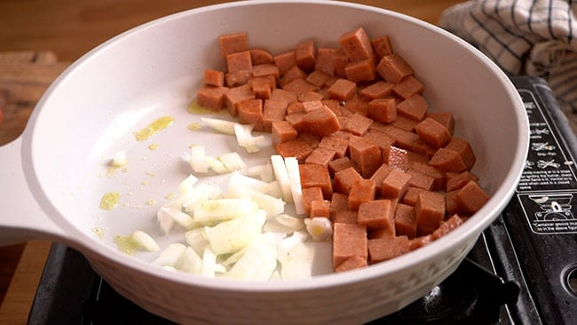 Saute the onion until transparent