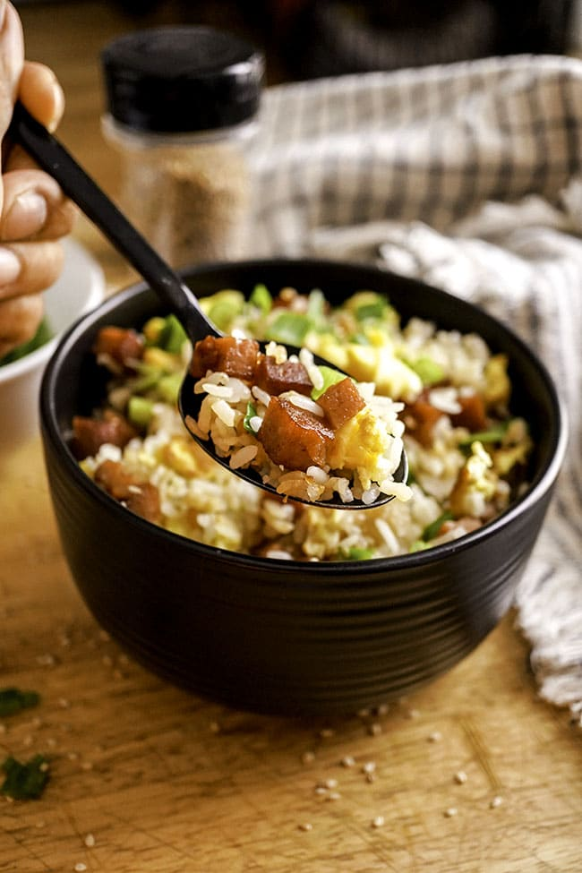 Spam Fried Rice 15 minutes and One Pot