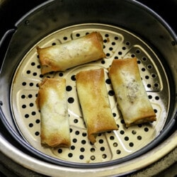 air fryer lumpia with Beef FIlling