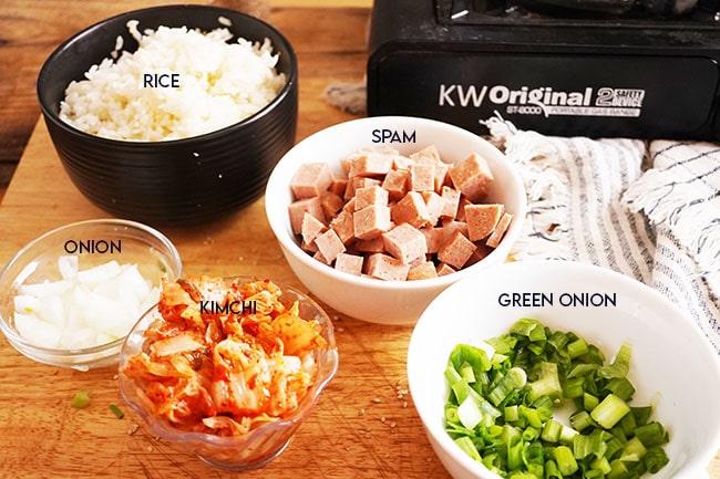 korean spam kimchi fried rice Ingredients